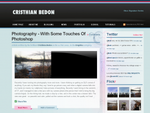Site with the new theme